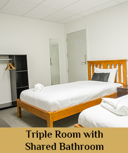 Triple shared room
